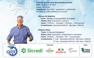 A CACIS realizará dois grandes eventos no dia 08 de maio