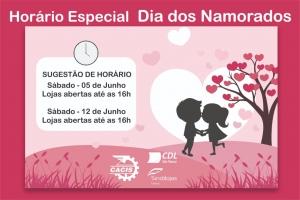 Horário Especial para o Dia dos Namorados